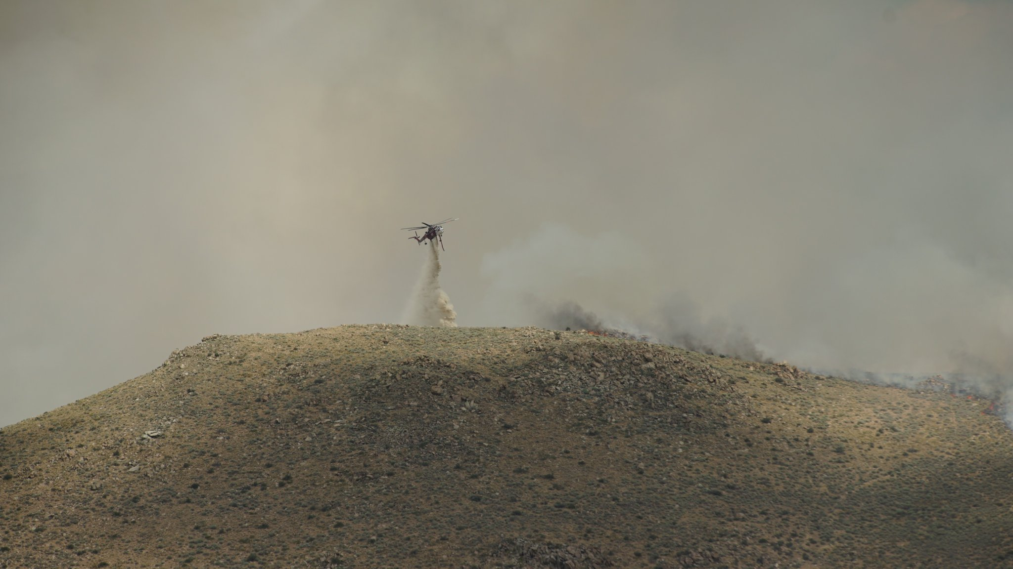 Air support for the Cold Springs Fire burning near Cold Springs and Stead. (KRNV)