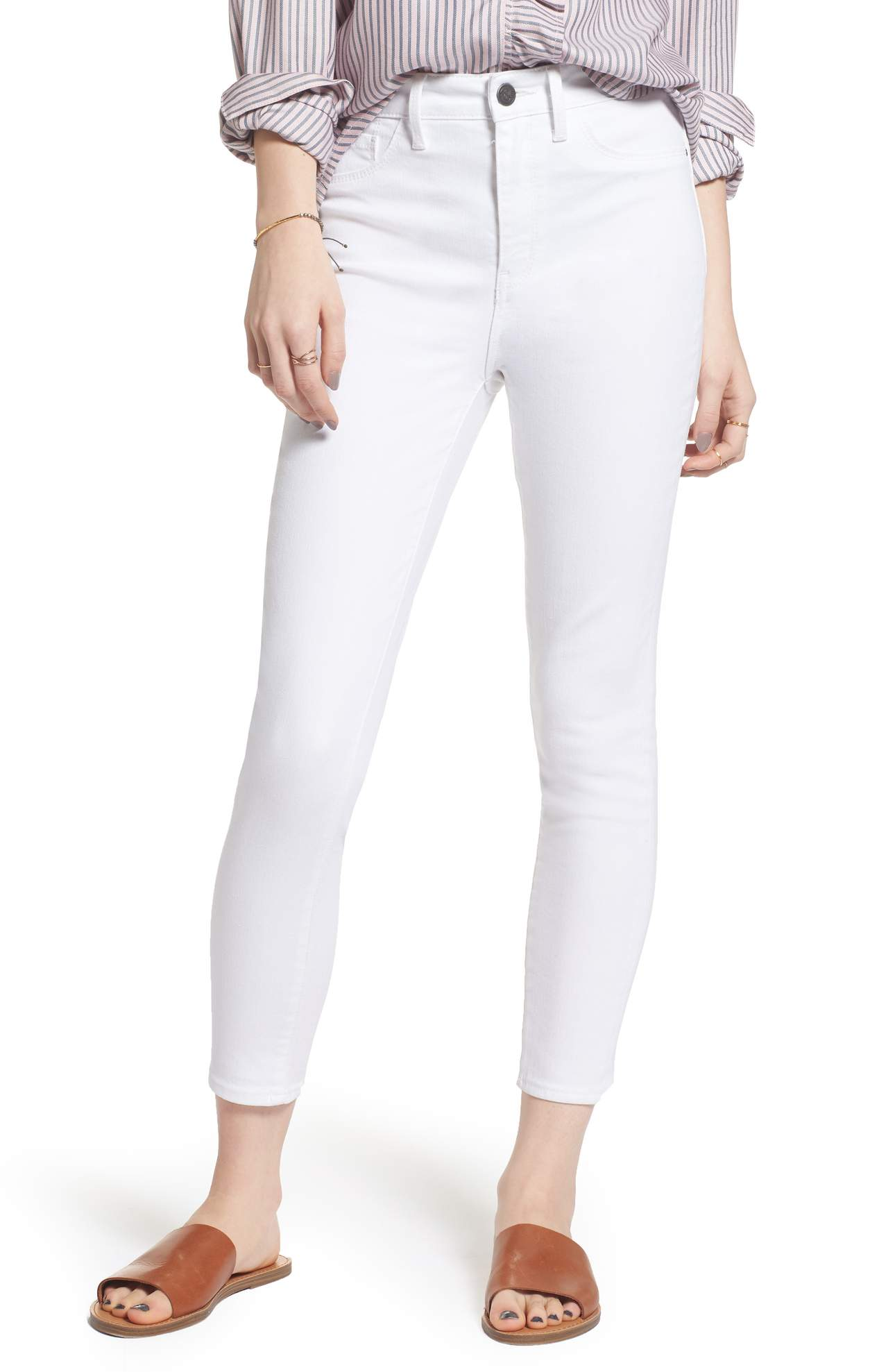 This Charity High Waist Crop Skinny Jean Was{&amp;nbsp;} $79.00 and is now $47.40. Head in to the office or out for the night in stretch-denim skinny jeans cut for a sleek fit that stops at the ankles to flaunt your favorite kicks.<p>(Image: Nordstrom)</p>