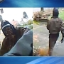 Neighbors say UPS helper's attempt at staying warm by covering his face was inappropriate