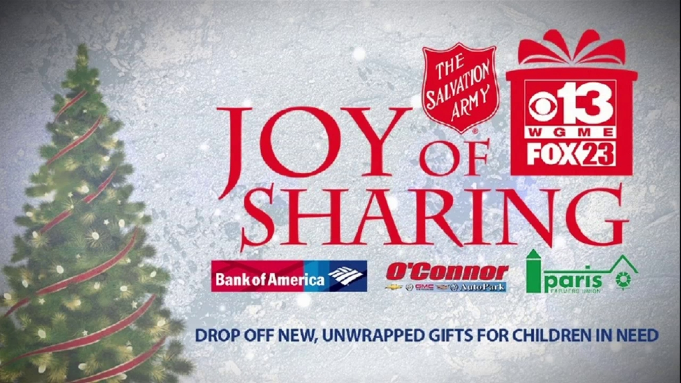 joy of sharing campaign helps provide gifts to maine children in need wgme - Bank Of America Christmas Eve Hours