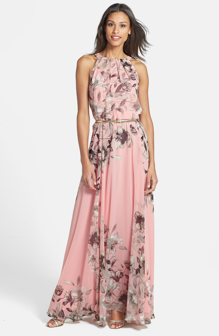 Belted Chiffon Maxi Dress, $158                                    (Image: Nordstrom)
