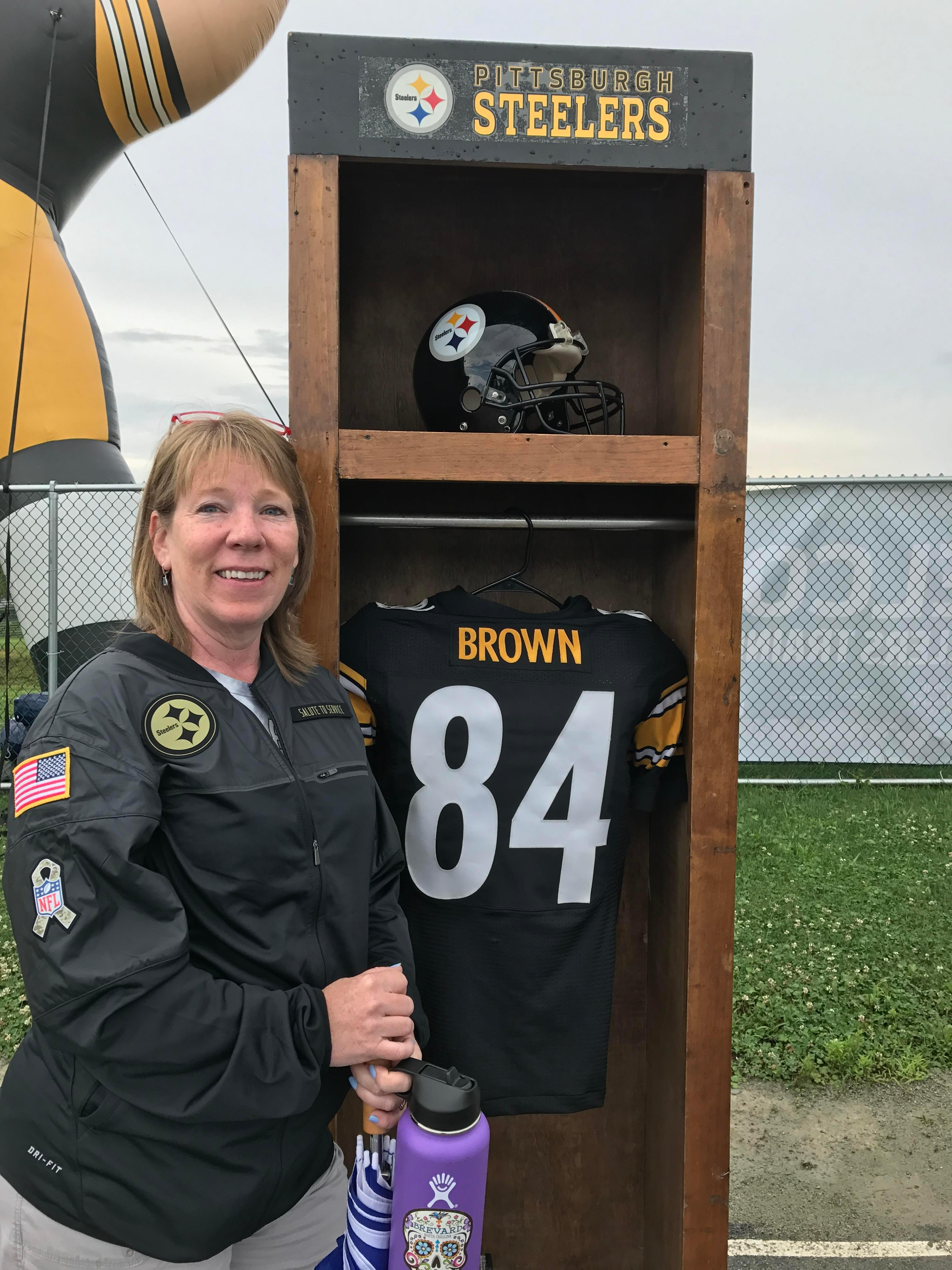 { }FILE - Chantel Sheehan of Asheville said she gained enough points with the Steelers Fan Club to be entered into a special raffle. The raffle was for a pregame experience at the Steelers football game against the Browns on Sunday, Dec. 31. (Photo credit: Chantel Sheehan)