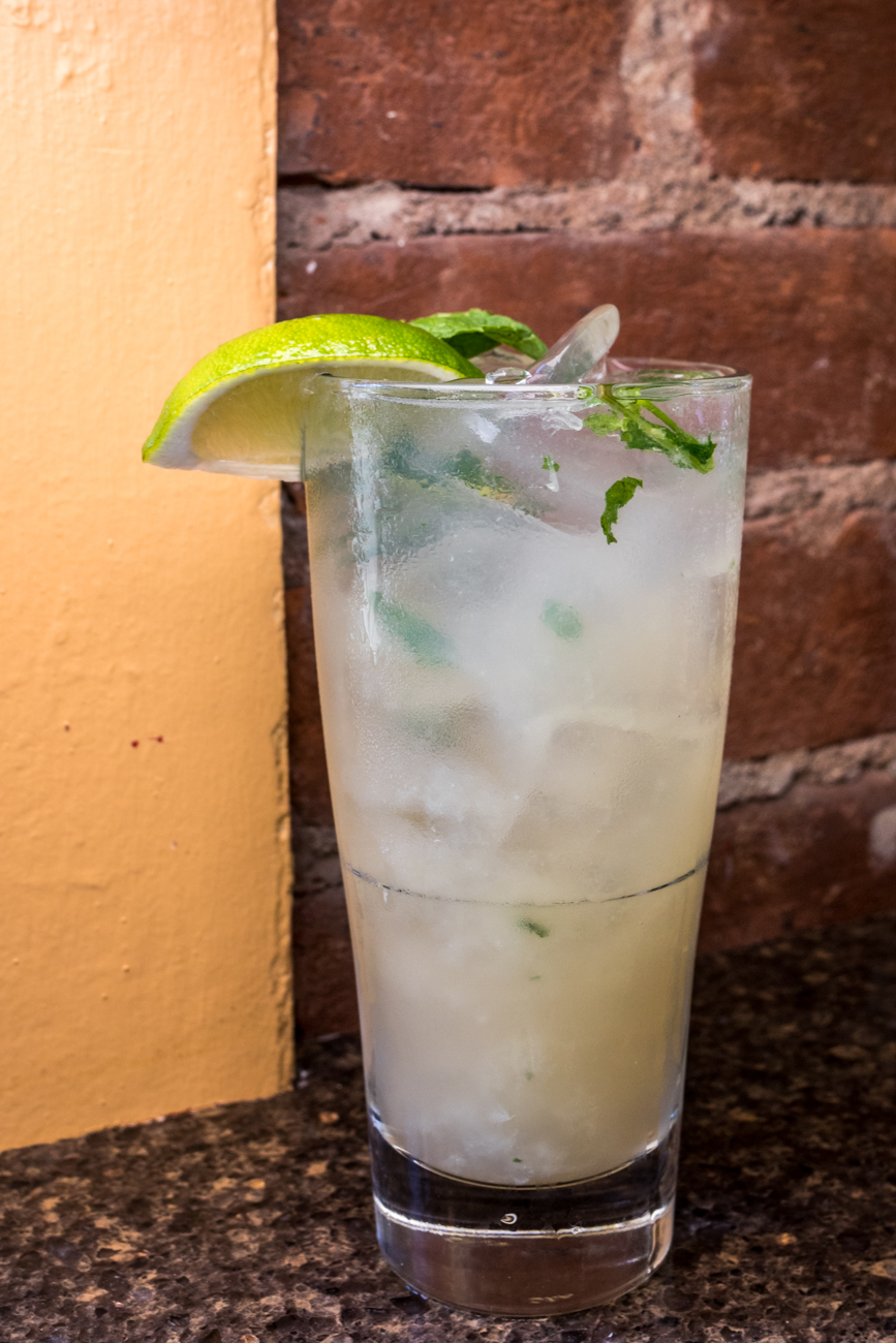 Asian Mojito: Brugal Anejo rum, lychee sake, fresh mint, agave, soda, lemon, and lime juice / Image: Catherine Viox{ }// Published: 8.19.20