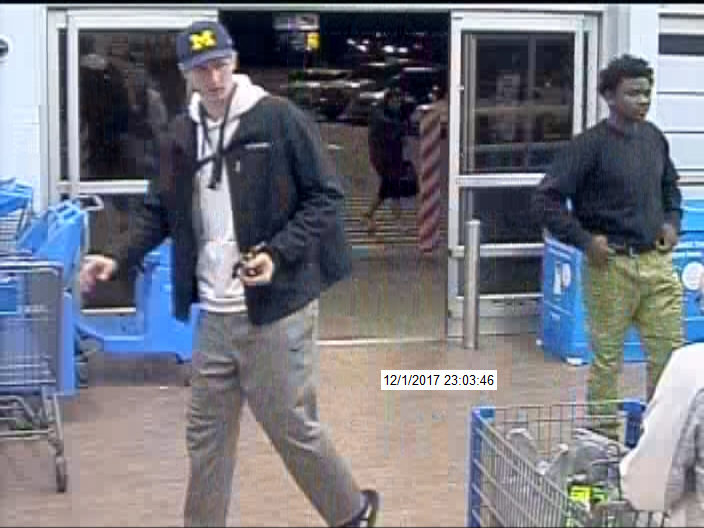 The Paw Paw (Michigan) Police Department is seeking assistance in identifying and locating three suspects in a Dec. 1 theft from a Walmart store. (Contributed)