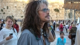 Steven Tyler visits the Western Wall in Israel