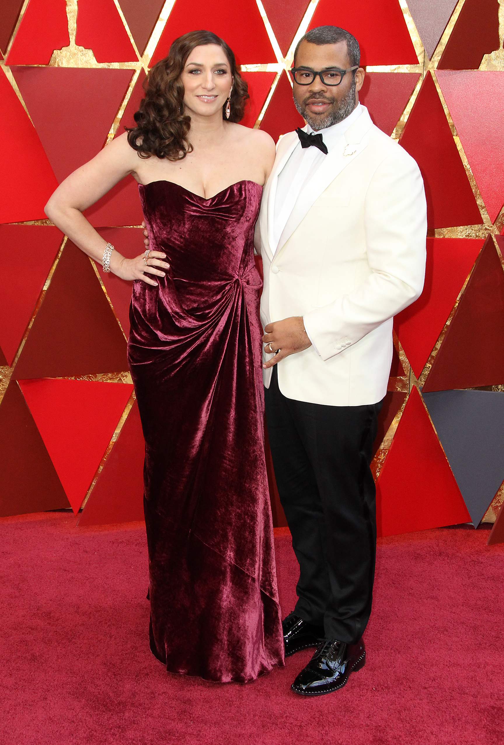 Jordan Peele and Chelsea Peretti{&amp;nbsp;}arrive at the 90th Annual Academy Awards (Oscars) held at the Dolby Theater in Hollywood, California. (Image: Adriana M. Barraza/WENN.com)<p></p>