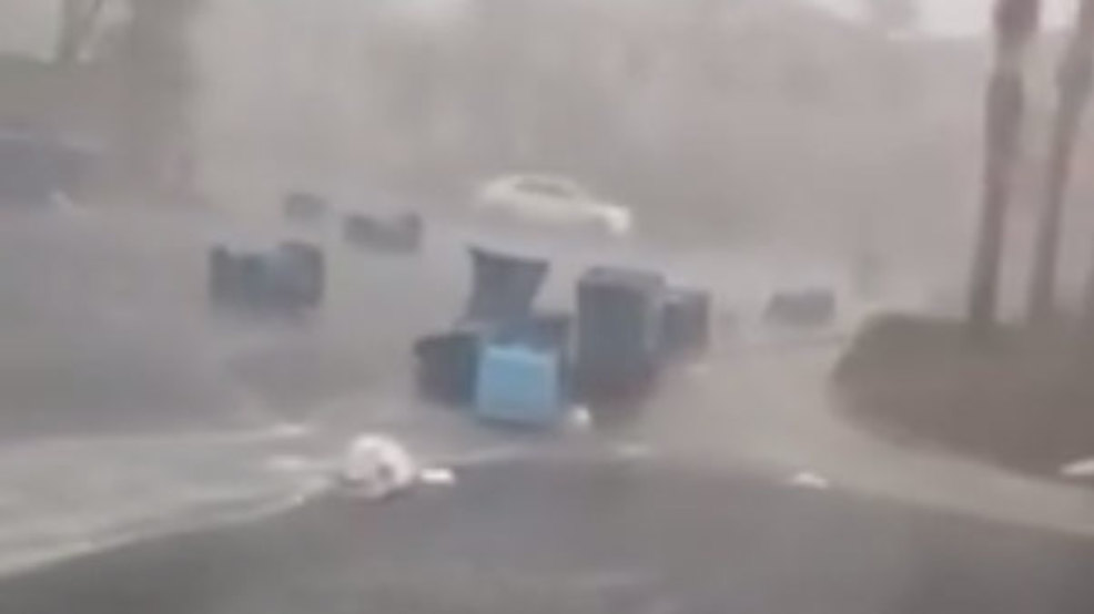 WATCH: Monsoon thunderstorms + garbage day = rainy mess in Las Vegas