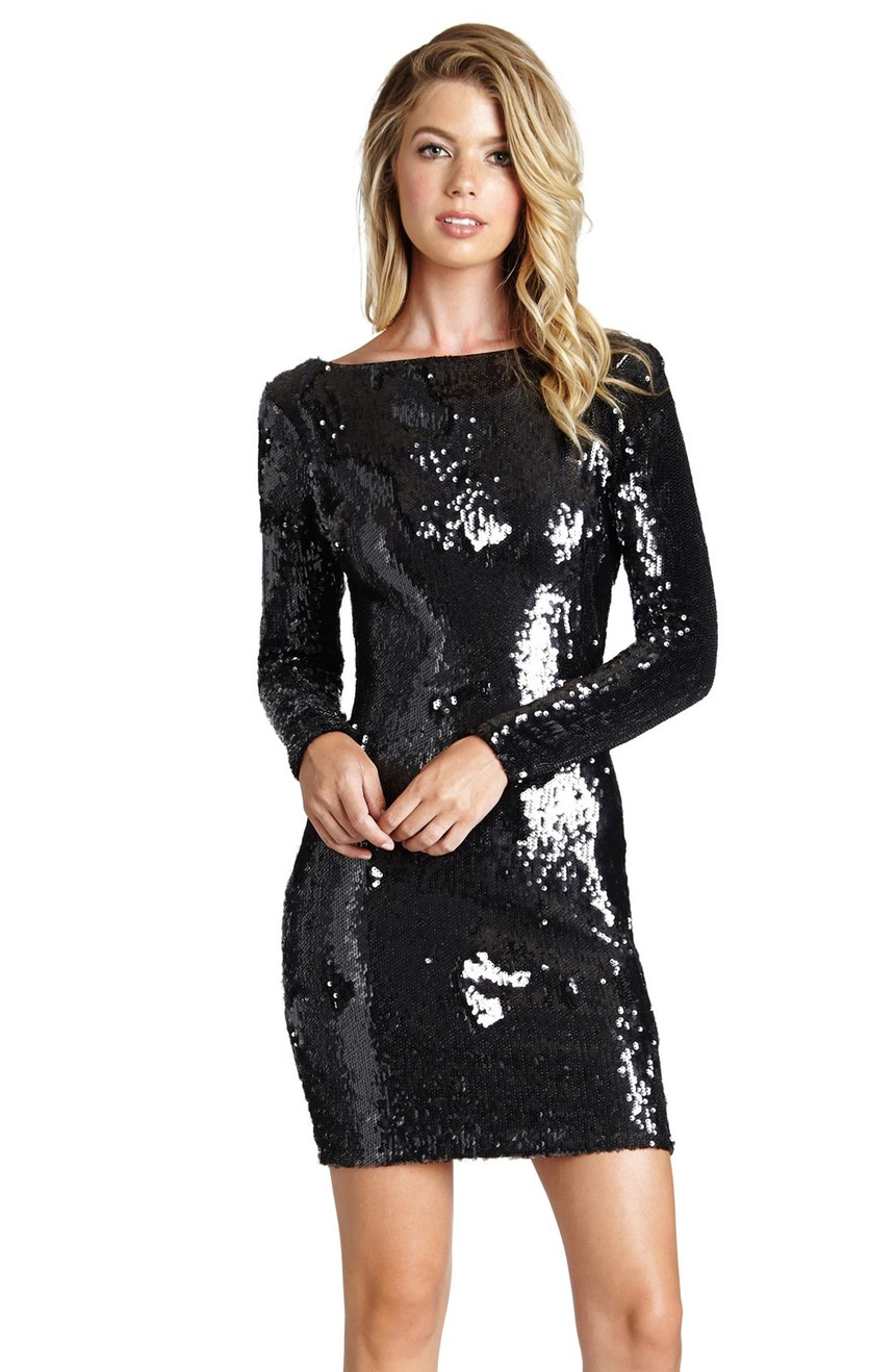 You can't go wrong with sequin to ring in the new year.   Try this 'Lola' Backless Sequin Minidress (Nordstrom Exclusive) $198.00  (Image: Nordstrom)