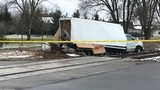 Two injured in truck-train collision on Shaver Road in Portage, Michigan