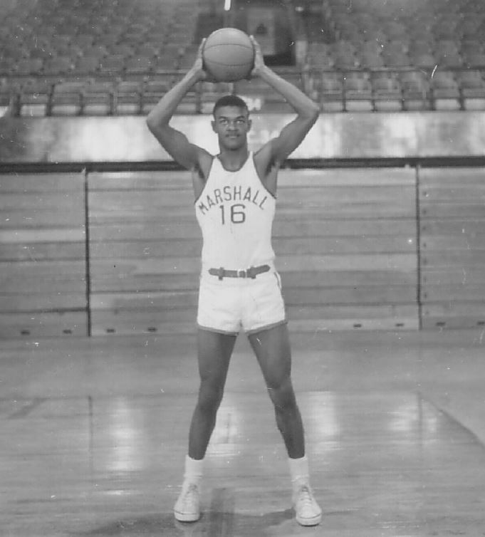 Two-time All-MAC selection Hal Greer shows the form that earned him honors during his long basketball career. (Marshall University Athletics)<p></p>