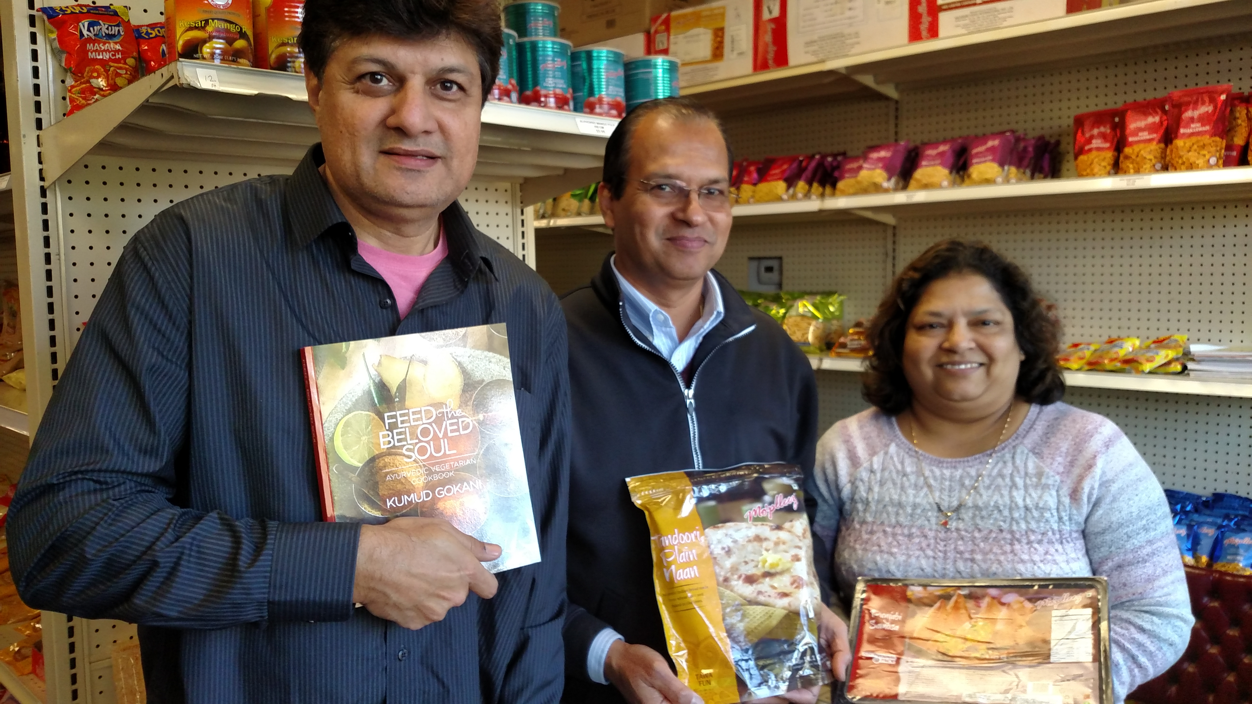 Kaarma Indian Grocery partners, Sumesh Bakshi, Avinash Parab and Manali Parab.{ } Photo by Maureen Flanagan Battistella
