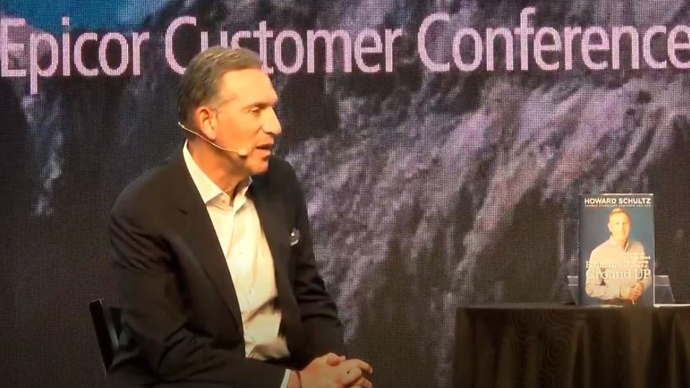 Former Starbucks CEO comes to Las Vegas: No hints on presidential timetable