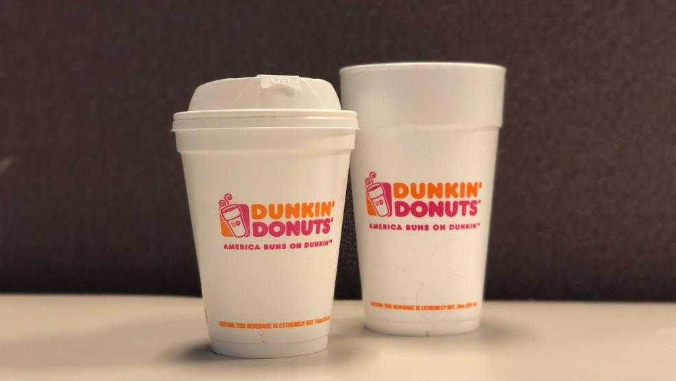 Styrofoam Cup Dunkin : Dunkin donuts to stop using foam cups by wjar