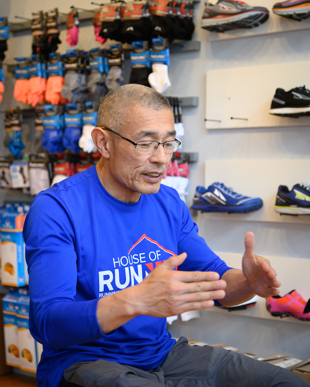 """I want to find the best possible fit to support every step and protect against road shock,"" says Fung. ""Then, I can coach to proper mechanics for a more enjoyable run, and less injuries later."" / Image: Phil Armstrong, Cincinnati Refined // Published: 5.30.19"