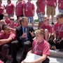 Troy 6th graders meet with Senator Brown while on D.C. trip