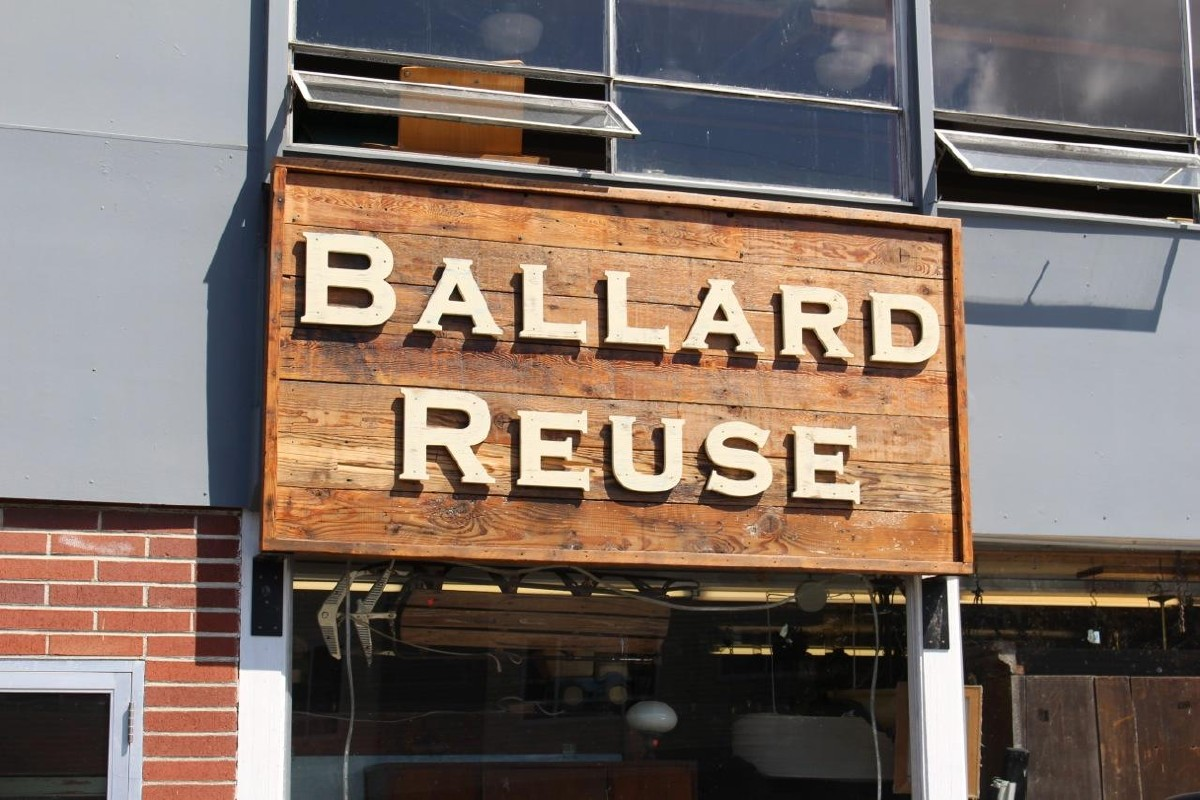 Ballard Reuse, a used building materials superstore. (Image: Malia/Karlinsky/Seattle Refined)