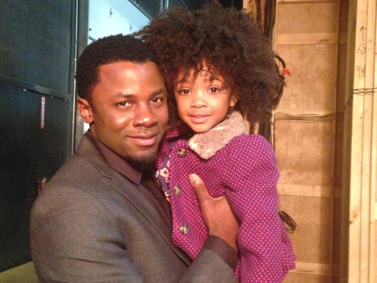 Leah Jeffires with actor, Derek Luke who plays Malcolm on Empire.