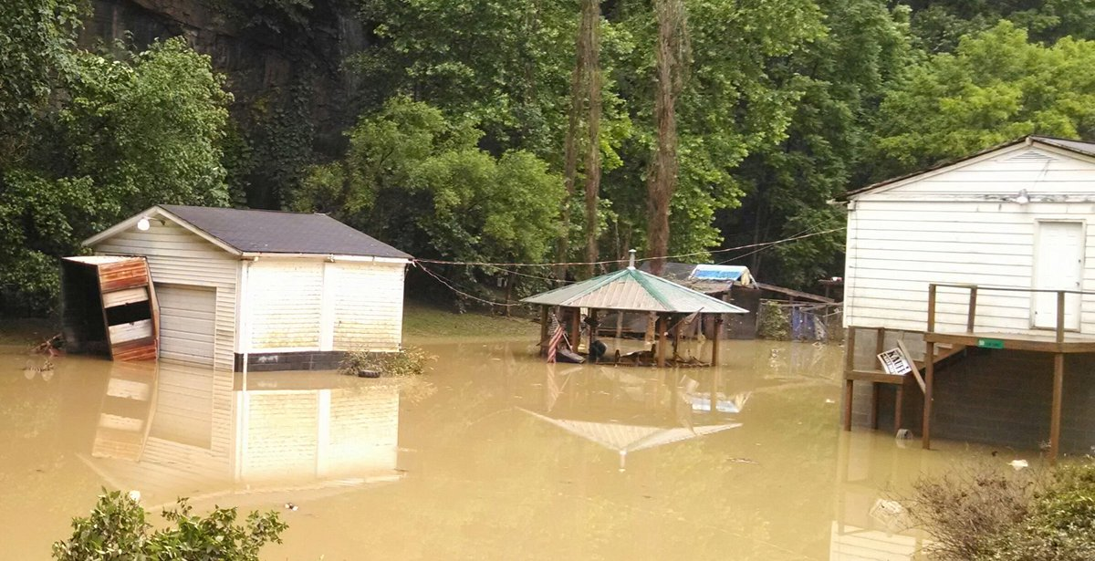 West Virginia flood damage seen Friday, June 24, 2016. (WCHS/Bob Aaron)