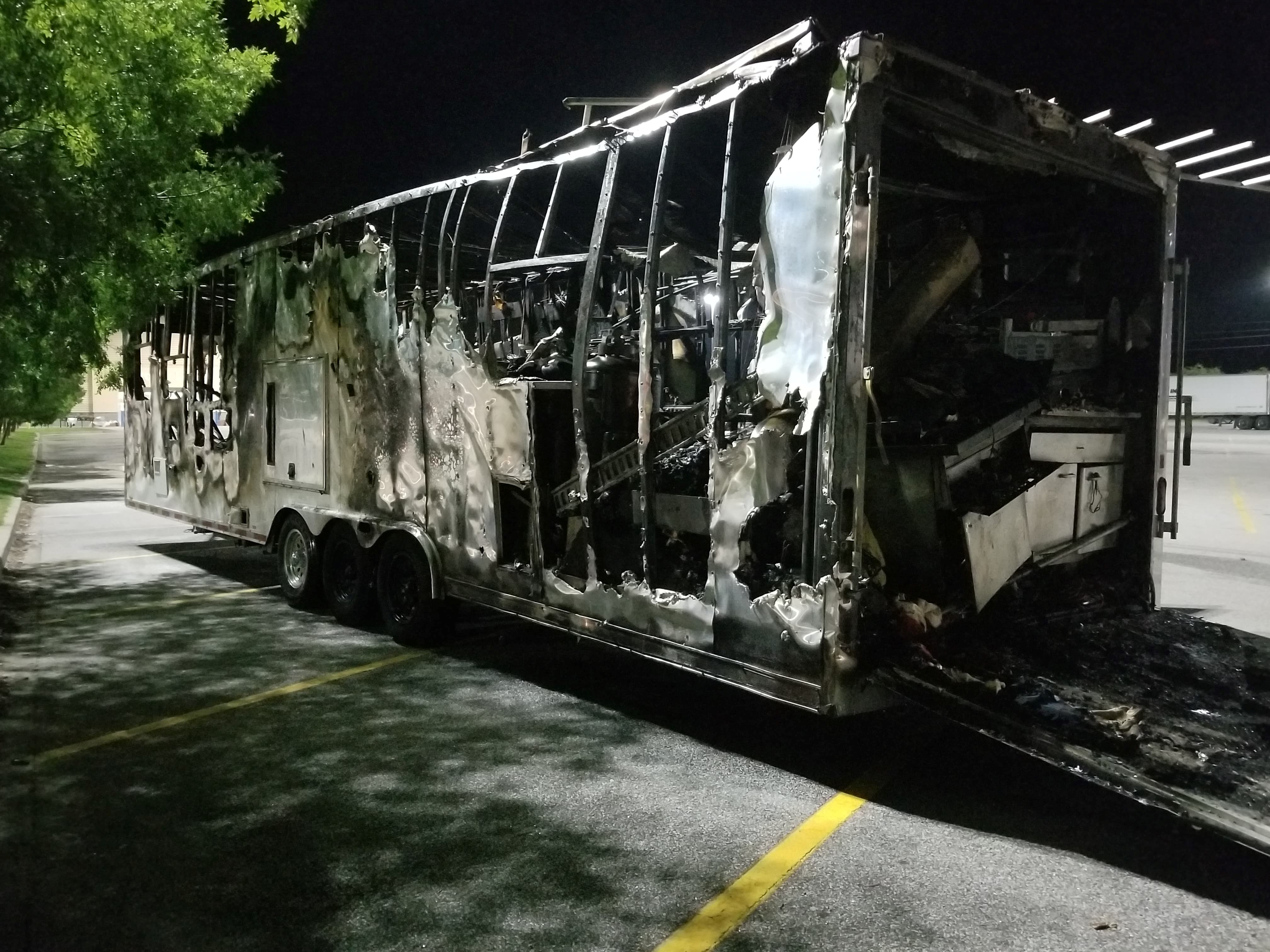 Trailer from{ }Walterboro Gas Station Fire