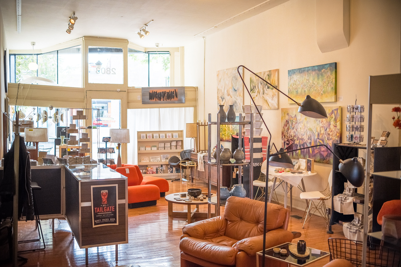 Your Friends & Neighbors is the eclectic art and home goods shop within a furniture shop. Located inside of the Leftcoast Modern annex in Walnut Hills, YF&N offers assorted cards, soaps, paintings, prints, bowls, jars, and more from both local and non-local talented artisans. It's grand opening will be held November 11, 2016. / Image: Phil Armstrong, Cincinnati Refined / Published: 11.12.16