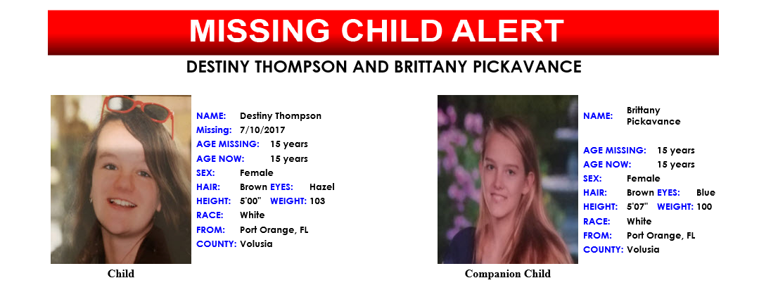 Missing Child Alert issued for 15-year-old girl. (FDLE)