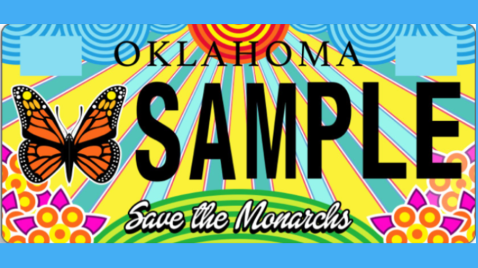Oklahoma monarch license plates now available.png