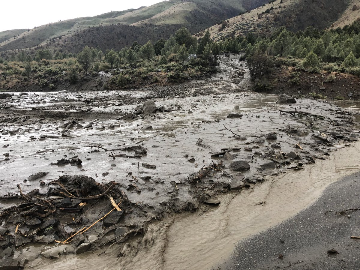 A mudslide blocks U.S. 395 at Topaz Lake near the Nevada-California border on Monday, May 21, 2018. (Photo: Nevada Highway Patrol)