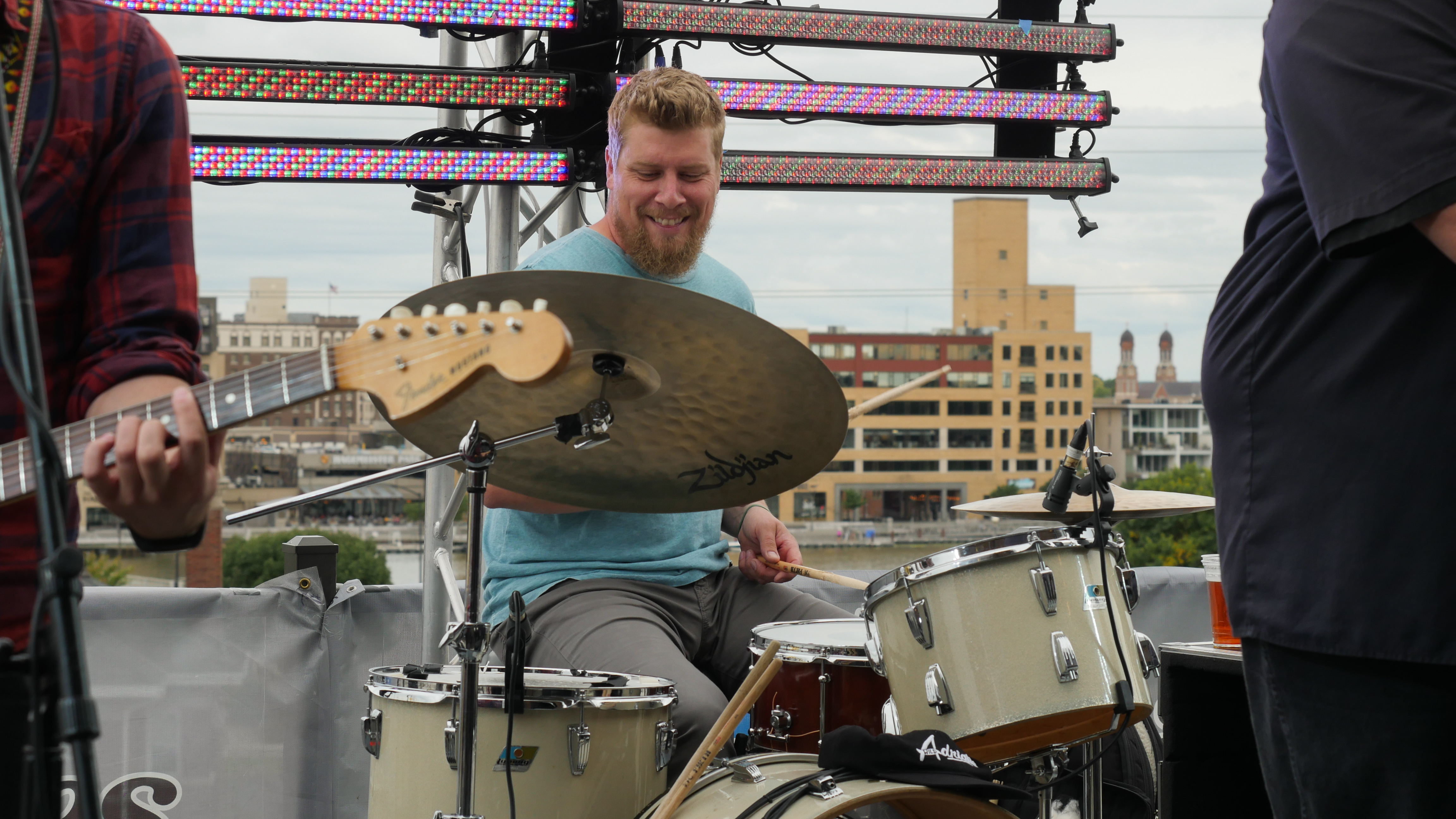 Appleton's J-Council performing Hopeland Festival 2019 at Titletown Brewing Co.'s Rooftap in the Railyard District of downtown Green Bay, Saturday, September 7th, 2019 (WCWF/ Beni Petersen)