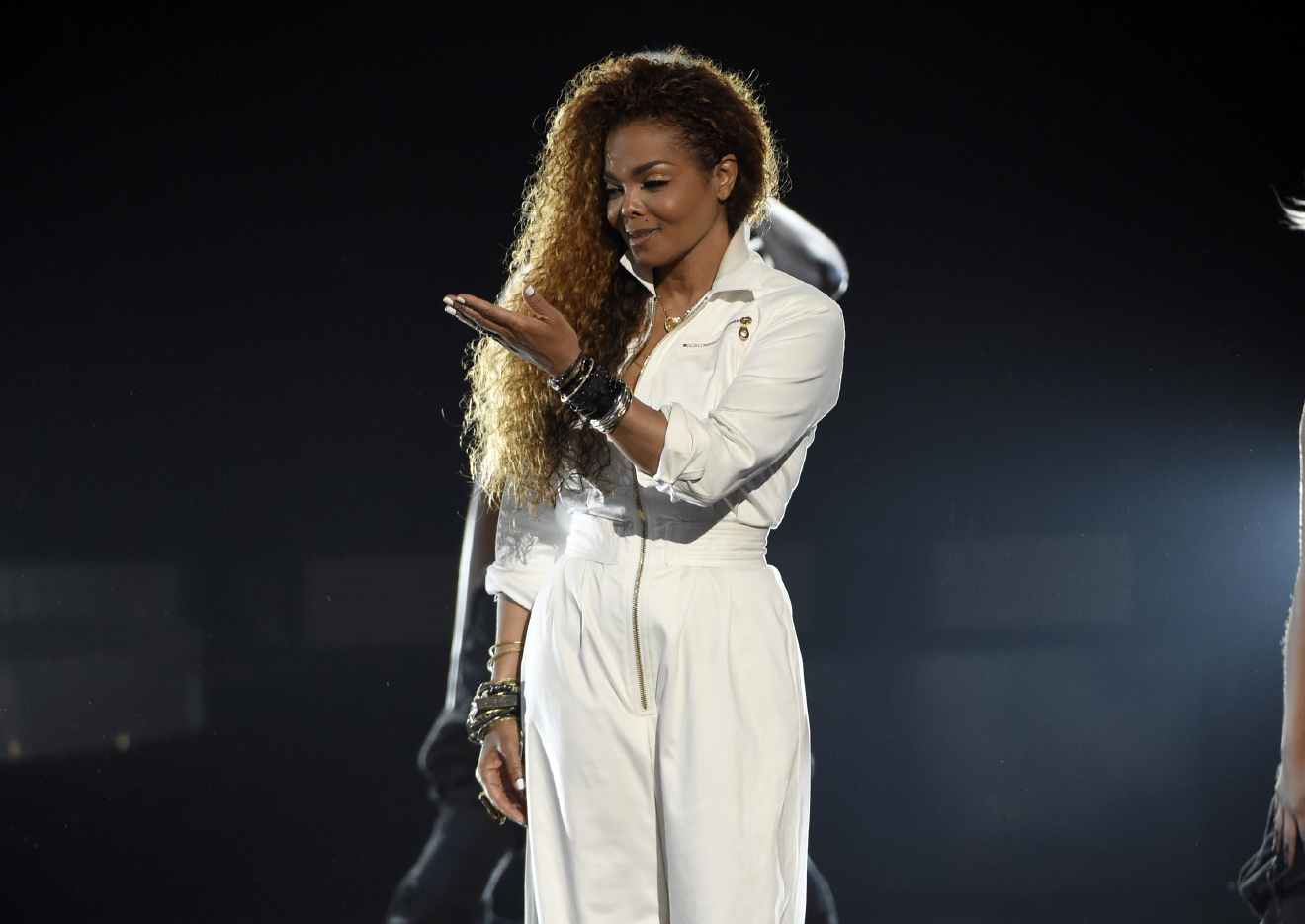 "FILE - In this June 28, 2015, file photo, Janet Jackson accepts the ultimate icon: music dance visual award at the BET Awards in Los Angeles. Spotify said on Oct. 20, 2016, that streams of Jackson's 1986 hit, ""Nasty,"" were up 250 percent a day after Republican Donald Trump called Democrat Hillary Clinton ""such a nasty woman"" during the final presidential debate. (Photo by Chris Pizzello/Invision/AP, File)"