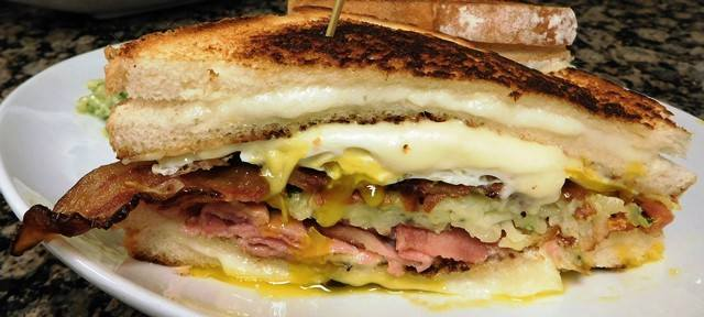 Kurubuta Ham and Bacon Grilled Cheese.   John Howie Steak, located in downtown Bellevue, brings major sandwich game. Every day the steakhouse features a unique and new sandwich called they call #SandwichOfTheDay. Enjoy the gallery! These are just a few of the daily sandwiches that look absolutely mind-blowing. To see the current Sandwich of the Day, check out John Howie Steak's Facebook page. (Image courtesy of John Howie Steak)