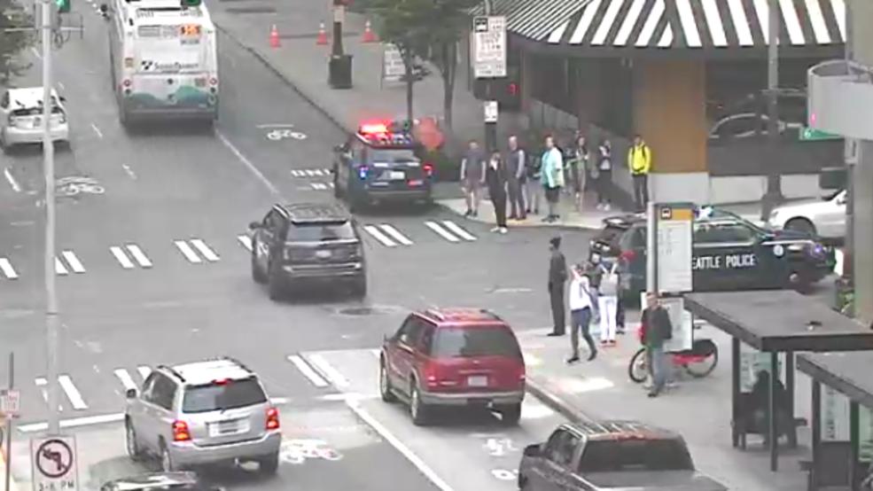 1 in custody after stabbing in downtown Seattle