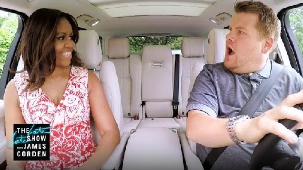 First lady 39 s 39 carpool karaoke 39 video airing wednesday wtvc for Car pool karaoke show