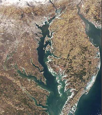 An ice crust forms around the Chesapeake Bay (Courtesy: Maryland Natural Resources Police)
