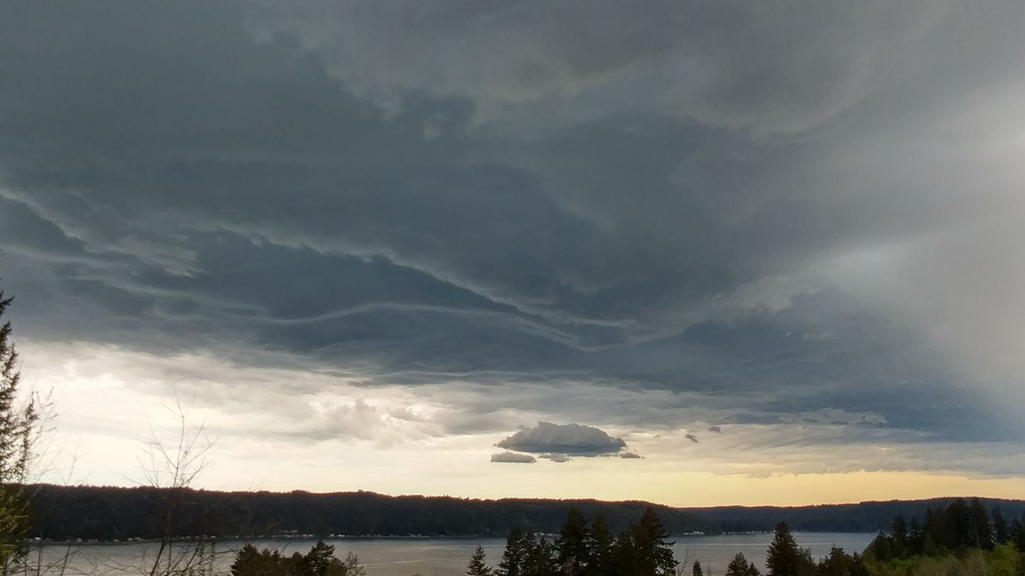 Storm clouds gather in Union, Washington. (Photo courtesy of Christina Hoffman)
