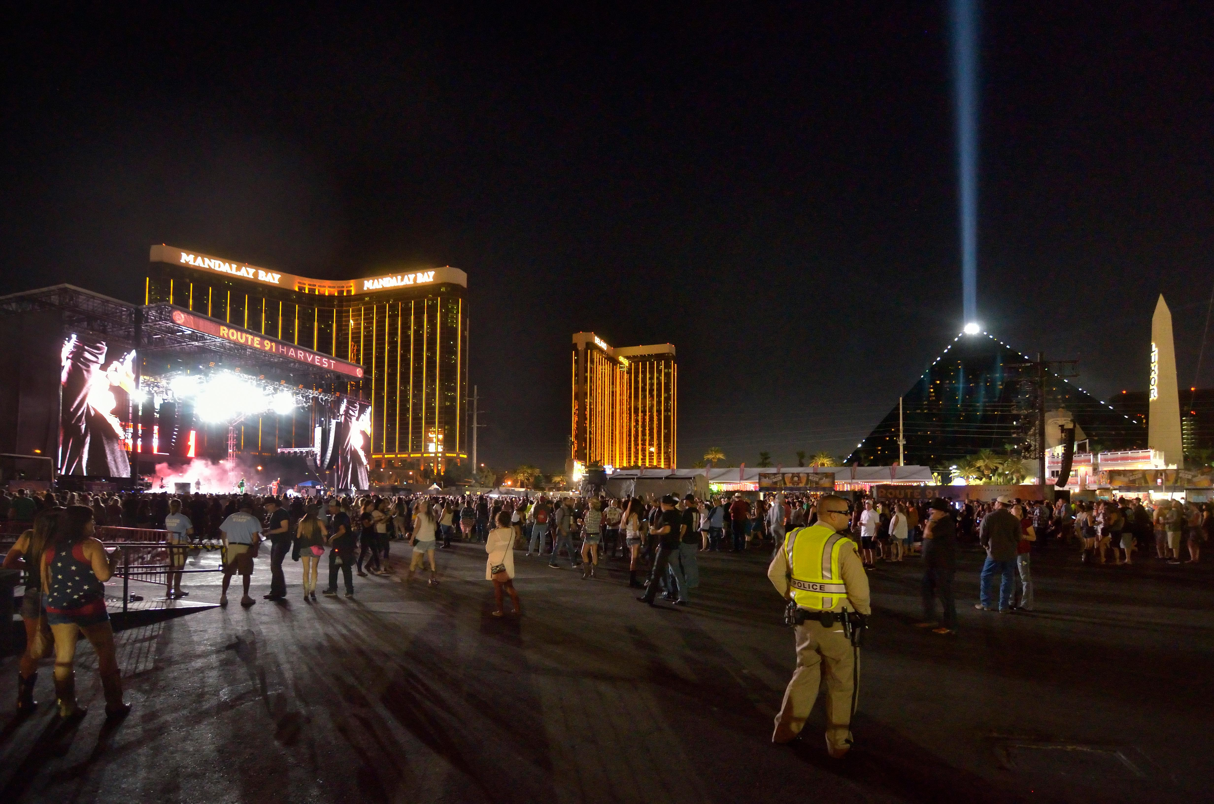 The grounds are shown at the Route 91 Harvest festival on Las Vegas Boulevard South in Las Vegas on Saturday, Sept. 30, 2017.  [Bill Hughes/Las Vegas News Bureau]