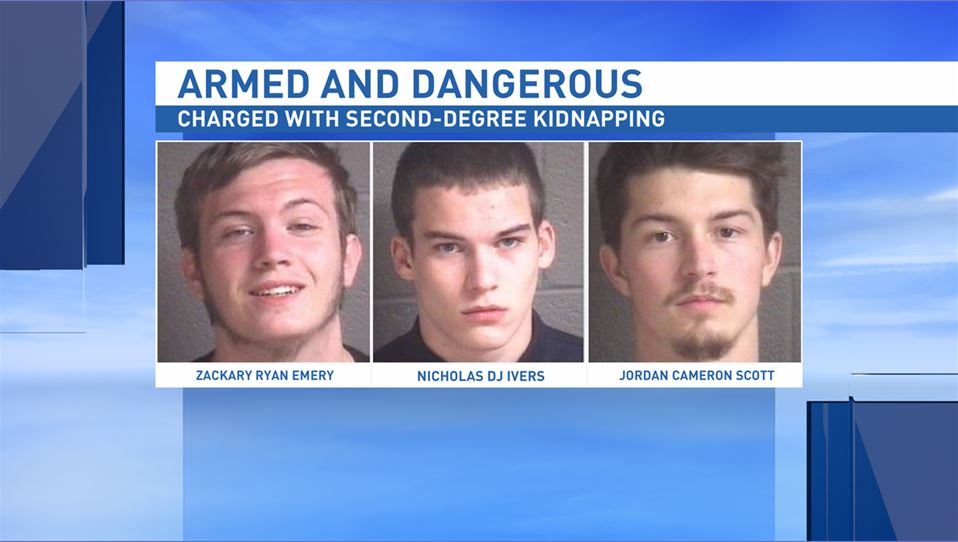 All three suspects are considered armed and dangerous by local sheriff's deputies. (Photo credit: Buncombe County Sheriff's Office)