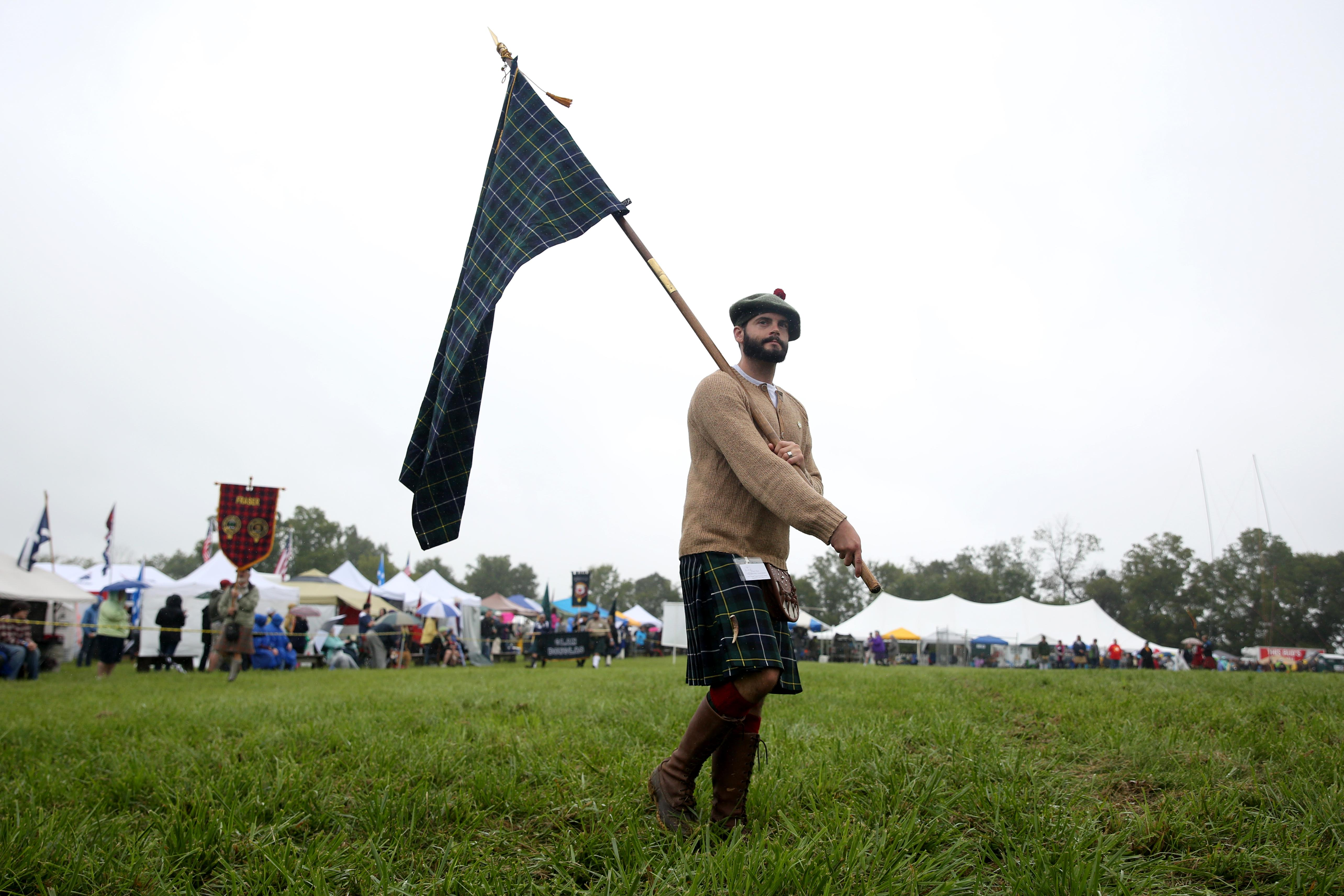 The rolling hills were lush and a steady drizzle fell as men in kilts wandered around, but this weekend's celebration of Scottish heritage was far from The Highlands. The Virginia Scottish Games and Festival were held at Great Meadows in The Plains, VA, where guests could enjoy cabre-tossing, haggis and bagpipes without buying tickets for a transatlantic flight. (Amanda Andrade-Rhoades/DC Refined)