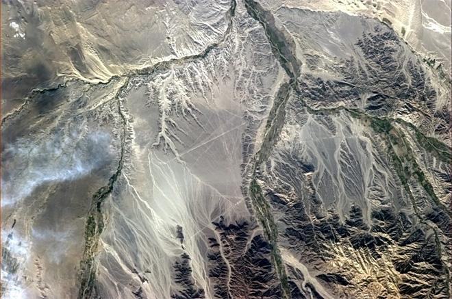 The Nazca lines seem to show that the less we understand about history, the greater our propensity towards mythology.  (Photo & Caption: Chris Hadfield/NASA)