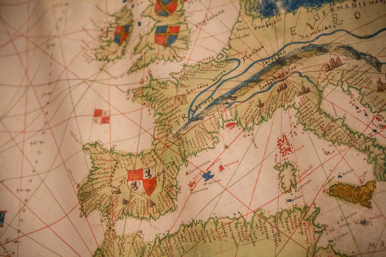 The Mapamundi or 'World Map' was made in 1526. / Image: Katie Robinson, Cincinnati Refined // Published: 10.26.19