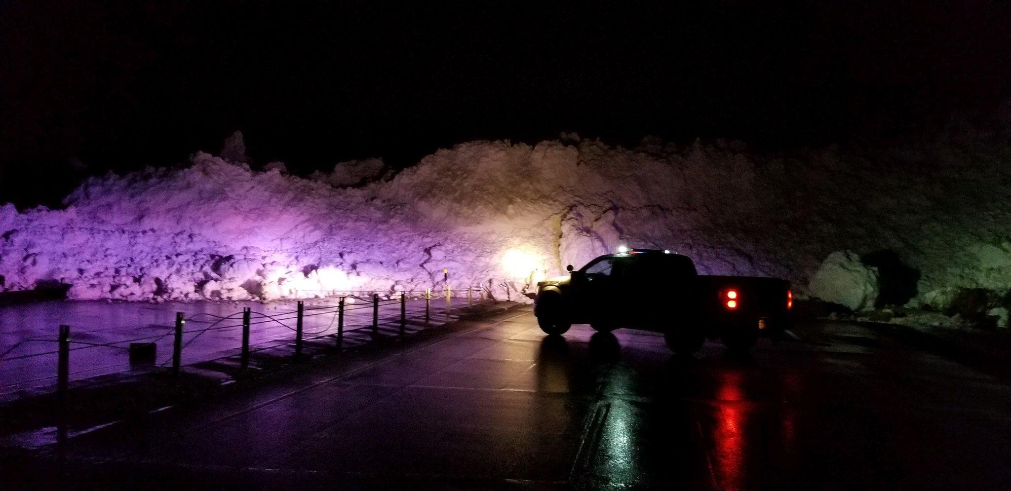 The Utah Highway Patrol reports Provo Canyon was closed Thursday at 7:30 p.m. after an avalanche. (Photo courtesy Utah Highway Patrol)