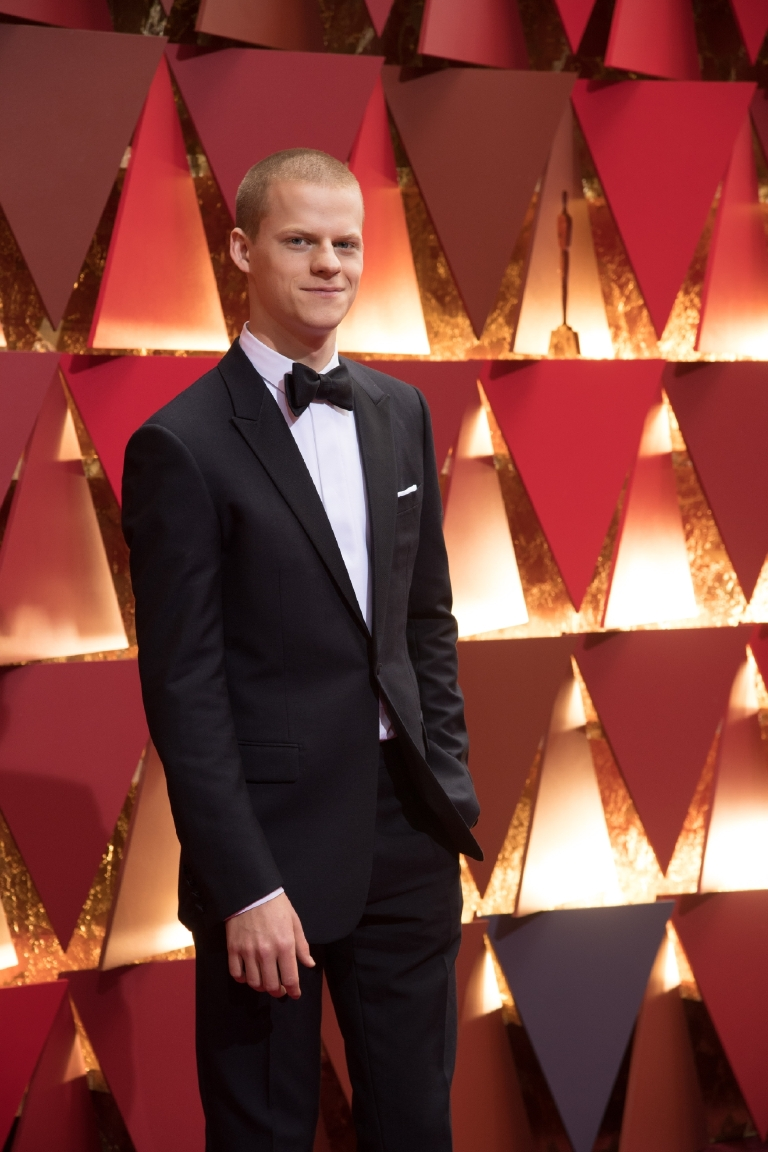 Lucas Hedges, Oscar® nominee, arrives on the red carpet of The 89th Oscars® at the Dolby® Theatre in Hollywood, CA on Sunday, February 26, 2017. (Michael Yada / ©A.M.P.A.S.)
