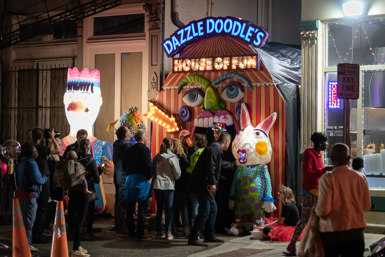 PICTURED NEIGHBORHOOD: Over-the-Rhine / A funhouse took over Coral Alley for BLINK. / Image: Phil Armstrong // Published: 10.12.19