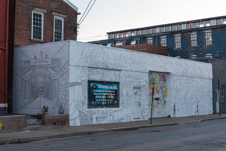 MURAL: You Are Here Covington / ARTIST: Phil Rowland / LOCATION: 17 W 8th Street (41011) / Image: Mike Menke // Published: 3.22.18