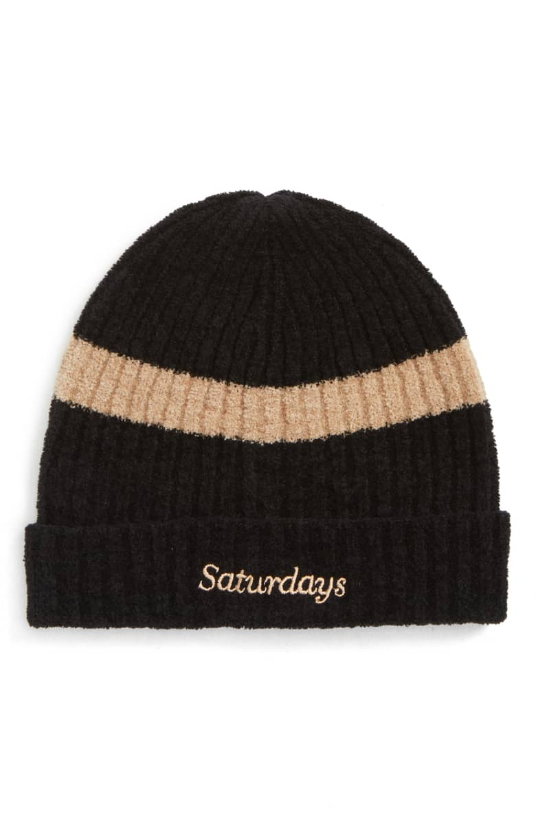 Saturdays NYC Plush Beanie, $75.{ }The men in our lives work hard! Gift them something they'll feel appreciated in this holiday season! (Image courtesy of Nordstrom).