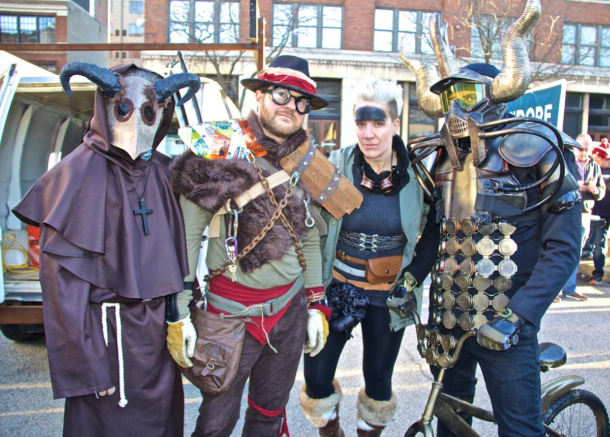 Bockfest celebrated the beginning of its 25th year on Friday, March 3, 2017 with the annual Bockfest parade. The parade began at Arnold's on 8th Street and proceeded up to the Moerlein Brewery in Over-the-Rhine. / Image: Dr. Richard Sanders // Published: 3.4.17