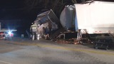 Beer spills onto U.S. 35 in Eaton after crash involving two semis