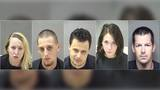 Five suspects arrested after Lynchburg Police serve warrants at hotel