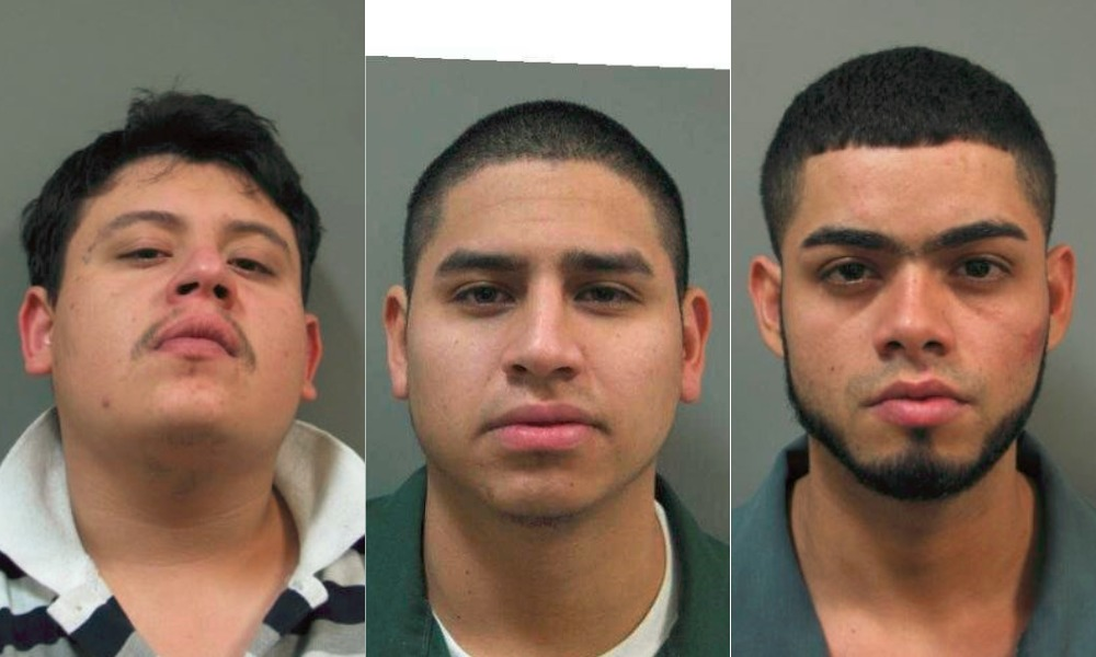 Late last month, Ivan Alexis Pena-Rodriguez, 20, Yervin Josue Romero-Rivera, 21, and Miguel Angel Ayala-Rivera, 24, were all formally charged with first-degree assault, plus other assorted criminal counts. (Photos: Montgomery County police)
