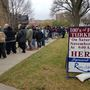 Hundreds line up for free turkeys