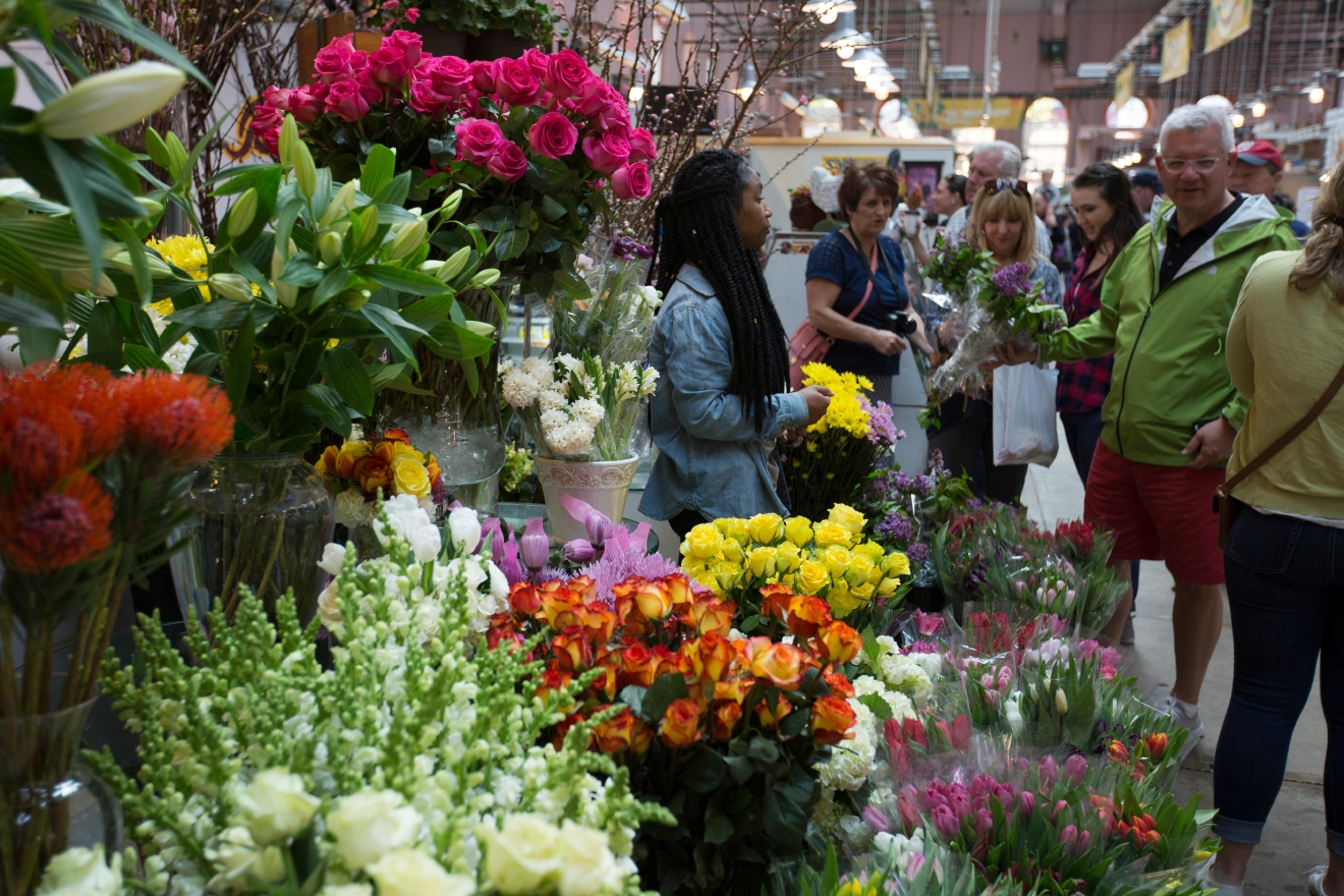 Grab some coffee and head to Eastern Market on the weekends. Although you can get lots of farm fresh produce there, Eastern Market also has sweet vintage stalls, locally crafted jewelry and flowers you can gift to the people you love. (Amanda Andrade-Rhoades/DC Refined)